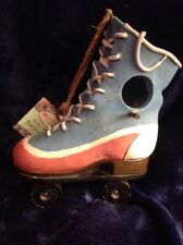 "Roller Skate Bird House Resin 9.5"" Tall $20 Retail Tag"