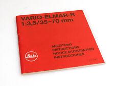 Bedienungsanleitung für Leitz Vario-Elmar R 1:3.5 / 35-70mm