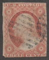 1857, US 3c, Used, George Washington, Sc 11