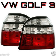 2 PHARE FEUX ARRIERE LOOK GTI VW GOLF 3 TDI TD D VR6 MK3 + CABRIOLET ROUGE CHROM