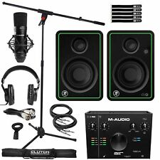Home Recording Bundle M-Audio Air 912 Interface Mic Headphones & Cr3-X Speakers