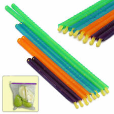8Pcs 4Sizes Seal Stick Storage Chip Bag Fresh Food Snack Clip Grip Coffee Kit