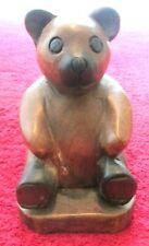 Addorable wooden teddy bear door stop