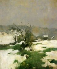 John Henry Twachtman An Early Winter Oil Painting repro