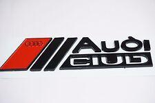 Audi Club Emblème Noir Autocollant coffre 3d a1, a3, a4, a5, a6, a7, RS, q7 (Nouveau)
