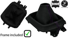 PURPLE STITCH LEATHER MANUAL GEAR GAITER +PLASTIC FRAME FOR MAZDA CX5 CX-5 12-16