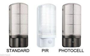 LED Wall Light Black / White Outdoor 7 Watt Photocell / PIR Security Lighting