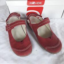Rohde Damen Schuhe Sandalen  Gr. 37 UK 4,5 Rotton Wechselfußbett 2 Klett