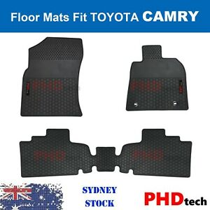 Premium Quality All Weather Rubber Floor Mats fit All New TOYOTA Camry Nov 2017+