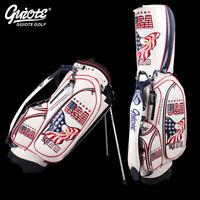 """USA Eagle Golf Stand Bag Pu Leather Carry Bag 8-ways 9.0""""comes with Rainhood"""