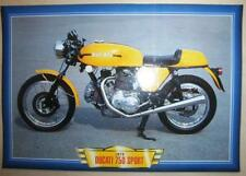 DUCATI 750 SPORT VINTAGE CLASSIC MOTORCYCLE BIKE 1970'S PICTURE PRINT 1973