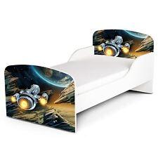 Pricerighthome Nave Espacial Cama Infantil con Protección Lateral Paneles
