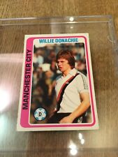 Manchester City TOPPS Football Card MCFC Willie Donachie 1979 Blue Back #123