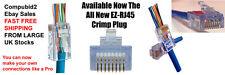 100 X NEW EZ RJ45 EZ-RJ45 CRIMP LAN NETWORK CONNECTORS CAT5e CAT6 UTP UK STOCKS