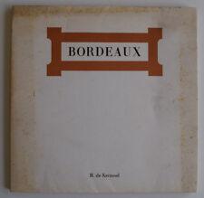 HENRI DE KERMOAL BORDEAUX Vin GASTRONOMIE Vignoble Bordelais Fronsac in4 1970