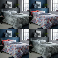 Nordic Duvet Cover Set Single Double King Size Reversible Flannel Bedding Quilt