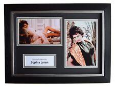 Sophia Loren SIGNED A4 FRAMED Autograph Photo Display Film Actress AFTAL COA
