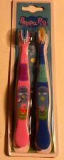 Peppa Pig Toothbrush - New Sealed Twin Pack - Peppa In Pink & George In Blue
