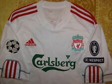 GERRARD 8 Champions League 2009 - 2010 Liverpool away shirt size L jersey