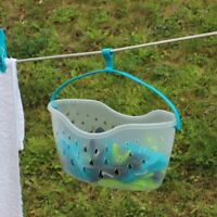 Plastic 36 Peg Basket Clothes Pegs Garden Washing Line Storage Hanging Hook New