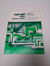 Emerald City Lowden Sheet Music Score Sax Brass Guitar Bass Drum Piano #23D125