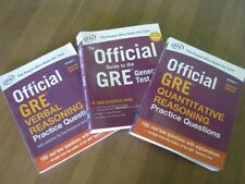 Three GRE Prep books: Official Guide to the General Test and Practice Questions