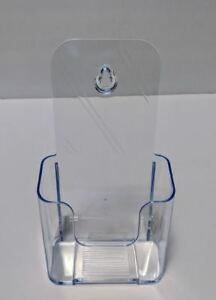 """2 Plastic Brochure Holders 4.25"""" X 8"""" - Counter Top or Wall Mount"""