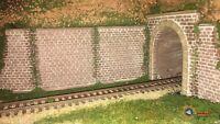 Muro de Túnel X2 via unica h0 ho no roco no electrotren no ibertren