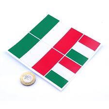 "Italy Flag Stickers x4 3"" & 2"" Italian Car Vinyl Rally Racing Window Decals"
