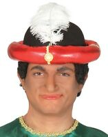 Red Gold Wise Man King Hat Christmas Nativity Xmas Fancy Dress Costume Accessory