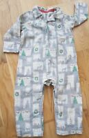 Boden 12-18 Months brushed cotton traditional christmas pjs pyjamas sleepsuit