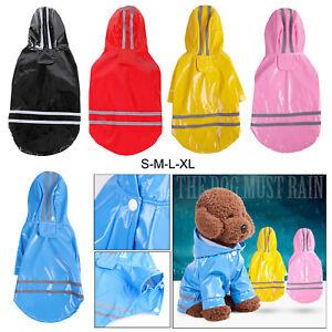 Doggie Raincoat Black Pink Blue Red Yellow S M L XL Pet Jacket Coat Dog Clothes