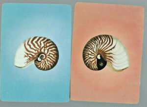 Genuine Swap Vintage Playing Card x 2 Shells