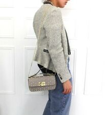 Zara Bouclé Tweed Stud Crema CATENA Giacca Blazer blogger M 10 12