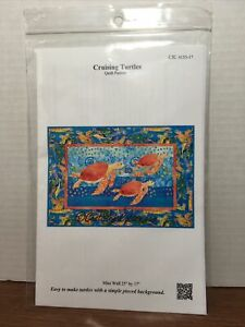"""Castille ja Cotton 2005 CRUISING TURTLES Quilt PATTERN ONLY Mini Wall 25"""" by 17"""""""