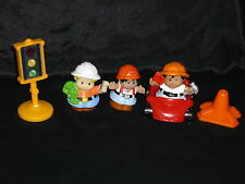 Fisher Price Little People Construction Lot: Sign, Red Car, Boy Dad