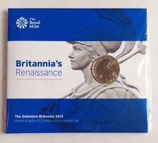 2015 definitivo Britannia Due Pound £ 2 MEDAGLIA Set Nuovi/Sigillati Royal Nuovo di zecca UK