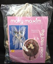 """2001 Mary Maxim Decorative Craft Kit Sisal Butterfly 12"""" x 16"""" Floral Ribbon"""