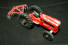 Vintage 1960's Tootsietoy Red Ford Farm Tractor With Disc plow