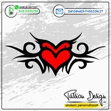Stickers Adesivo CUORE TRIBALE Adesivo per Casco, Moto, Auto, Regalo, Amore NOI