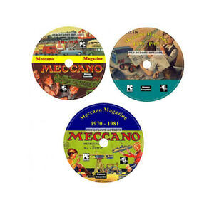 Complete Meccano Magazine Collection 3x DVD Set + 400 Bonus Manuals For PC/MAC