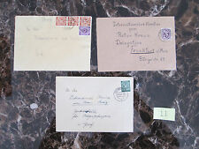 Lot of 3 Occupation 1946-47 Germany Covers to Red Cross Switzerland