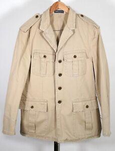 Vintage POLO RALPH LAUREN Khaki Safari Button Jacket Size XL