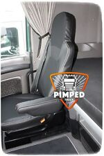 Black DAF 105 TILL 2012YEAR / DAF CF EURO5 ECO LEATHER SEAT COVERS
