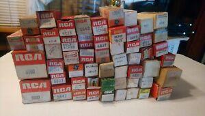 Huge Mixed Lot Of New /Unused RCA/GE/AMC etc Vintage Electron Tubes TV/Radio