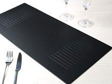 BLACK Embossed Leatherboard Table Runner