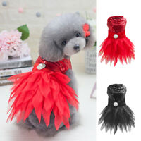Small Dog Girl Dress Pet Puppy Luxury Princess Vest Tutu Shirt Clothes Costume