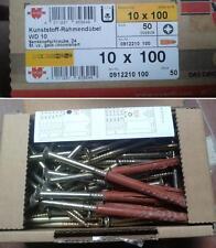 WURTH confezioni da n.50 Tasselli mis10x100 in nylon con vite, doppia espansione