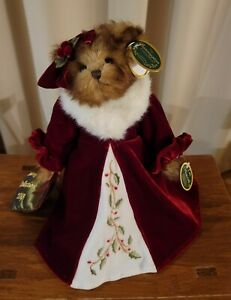 2009 Bearington Collection Holiday Bear HOLLY N. IVY ~ Musical