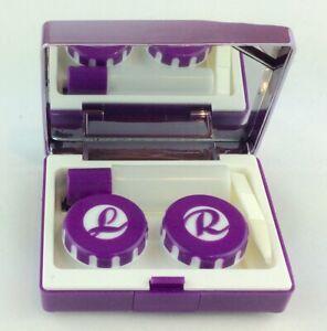 Edel Aufbewahrungs Behälter Reiseset Spiegeletui für  Kontaktlinsen